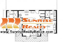 SBR 2 bedroom floor plan