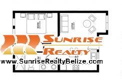 SBR 1bdrm Floor Plan